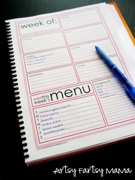 printable menu planner pages 17 best images about planner on pinterest free printable