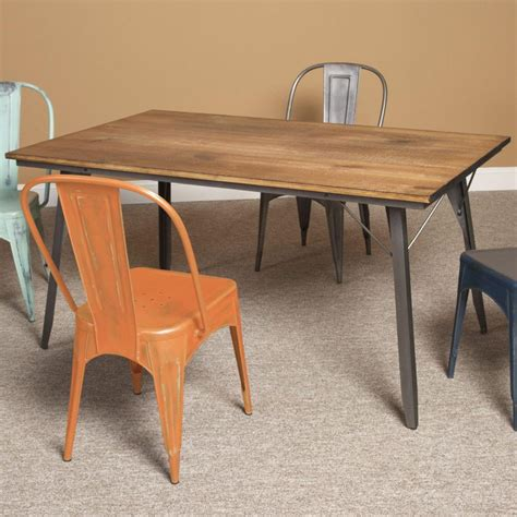 wood metal dining table furniture contemporary dining room decorating ideas