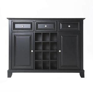 Home Depot Buffet Ls by Crosley Newport Black Buffet Server And Sideboard Cabinet