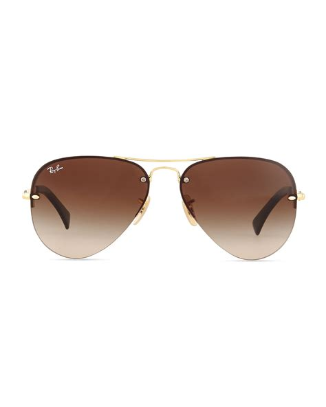 Rimless Aviator Sunglasses ban rimless aviator rb3214 sunglasses louisiana