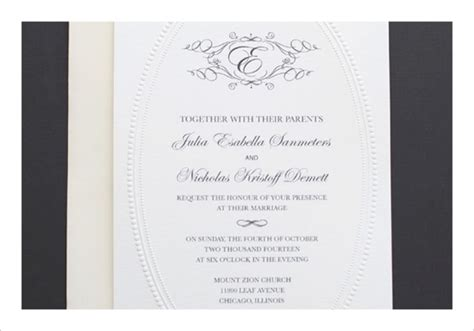 free monogram wedding invitation templates wblqual com