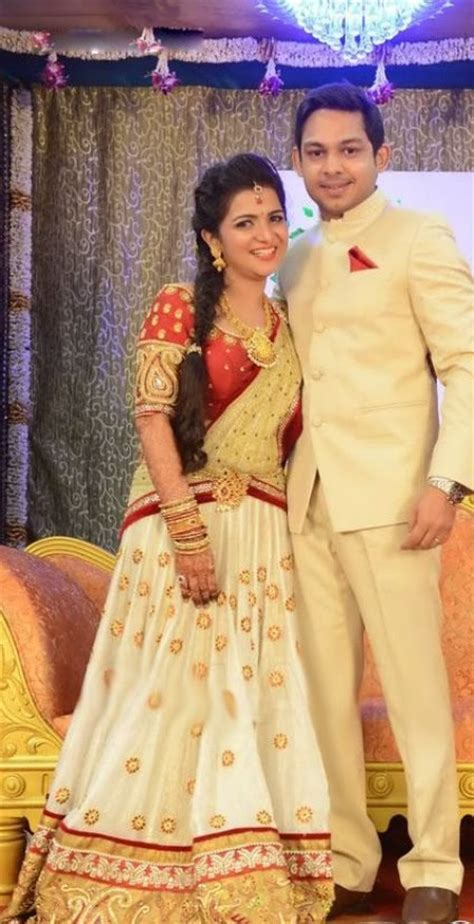 vijay tv dd marriage latest indian wedding silk saree jewellery wedding hair
