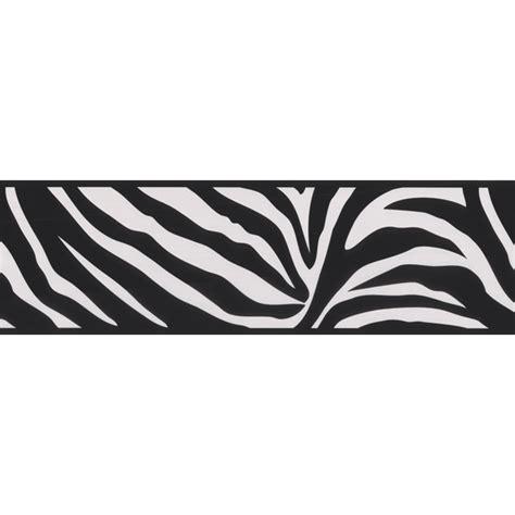 443b90546 black zebra border zebra crossing brewster wallpaper