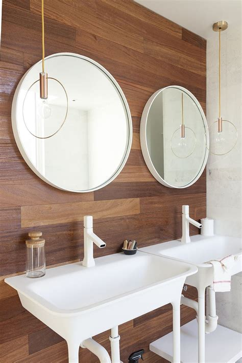 Bathroom Mirror Designs create a cozy modern bathroom on a budget