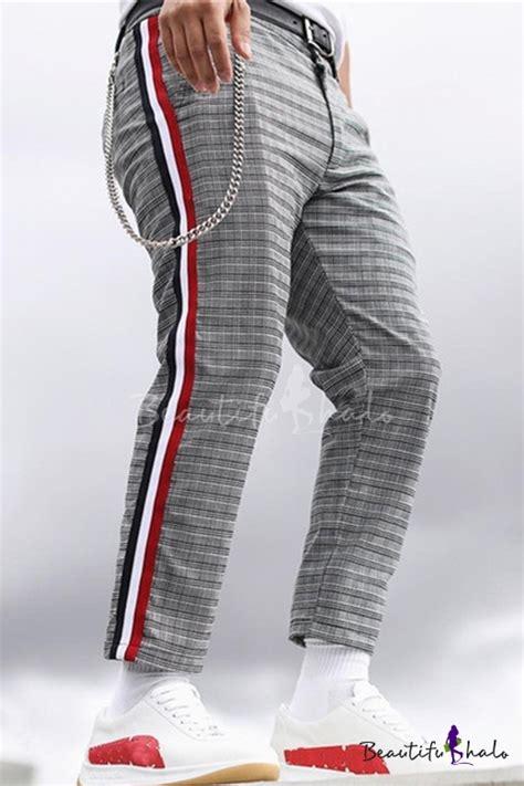 27223 Leisure V Stripe Blouse B s popular leisure color block stripes side plaids