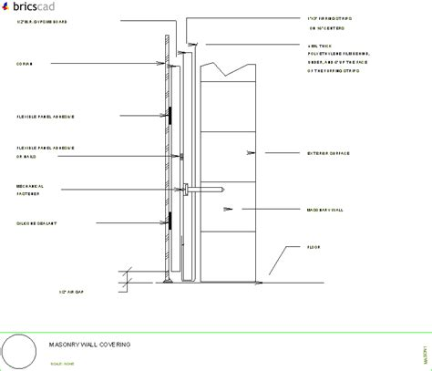 Corian Details How To Cover Masonry Walls With Corian 174 Aia Cad Details