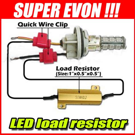 adding a resistor in series with a load will cause 2 x led load resistors for turn signal fog running lights ledonlineworld led light bars