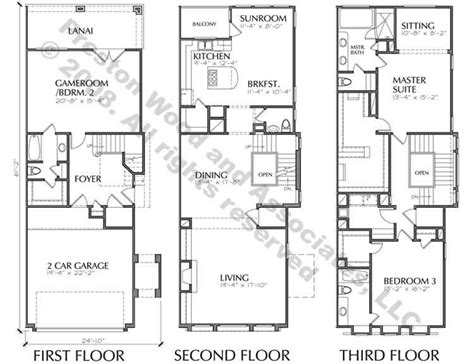 3 story townhouse floor plans town house building plan new town home floor plans