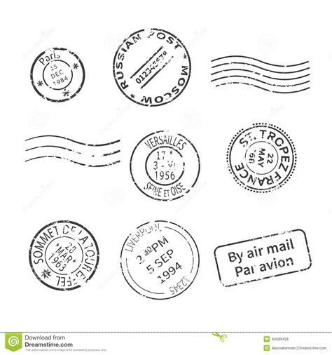 old style l post vector set of vintage style post sts from countries and