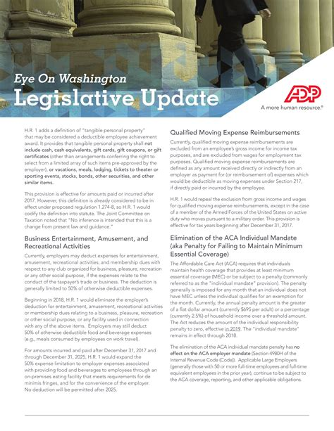 tax cuts and act the complete bill books eye on washington legislative update