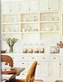 Exposed Cabinet Hinges by White Kitchen Ccabinets With Brass Pulls Cottage Kitchen