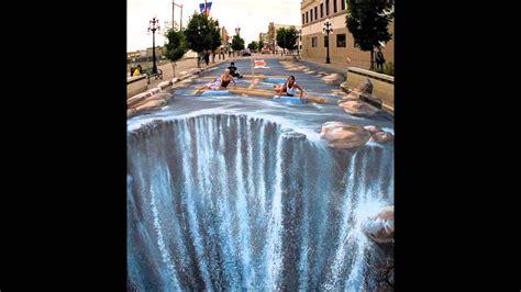 imagenes en 3d en el piso arte espectacular pinturas 3 d en suelo y paredes youtube