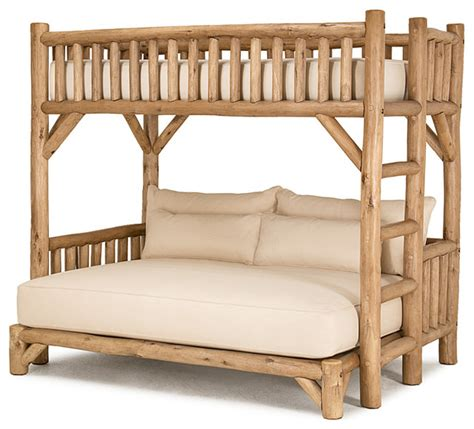 Bunk Beds Milwaukee Rustic Bunk Bed 4255 In Pecan Finish By La Lune Collection Rustic Bunk Beds Milwaukee