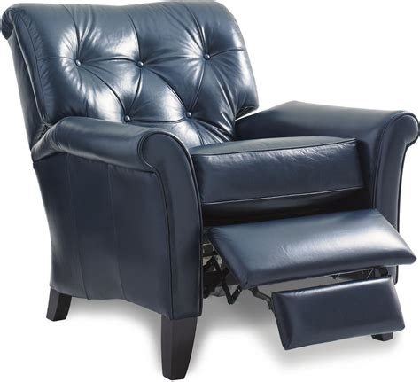 on a recliner thorne high leg recliner with tufted back by la z boy