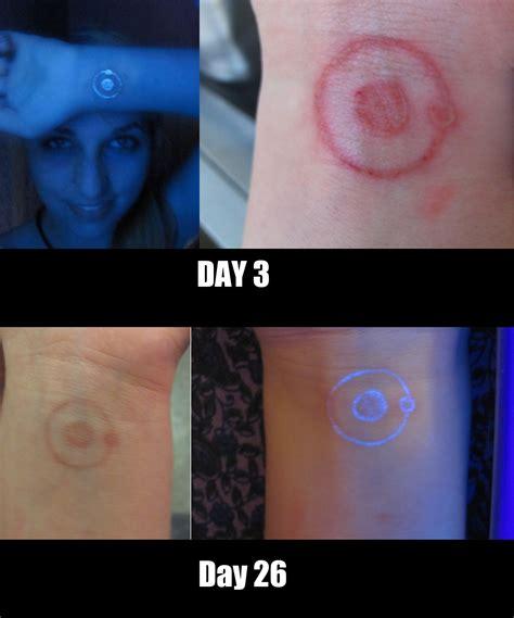 uv tattoo healing how my black light tattoo is healing tattoos