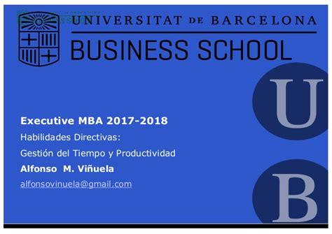 Liba Executive Mba 2017 by Gesti 243 N Tiempo Y Productividad Executive Mba Ub 2017