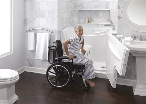 wheelchair bathtub how to make a senior friendly safe bathroom