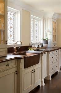 beautiful Installing Kitchen Sink Faucet #8: copper-kitchen-sink-country-decorating-brass-faucet-better-decorating-bible-blog-interiors-how-to-country-style-interiors-traditional.jpg