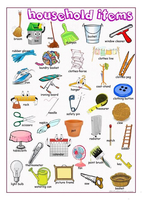 doodle free dictionary household items picture dictionary worksheet free esl