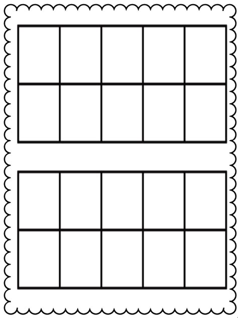 Ten Frame Worksheet by Ten Frame Kristen S Kindergarten