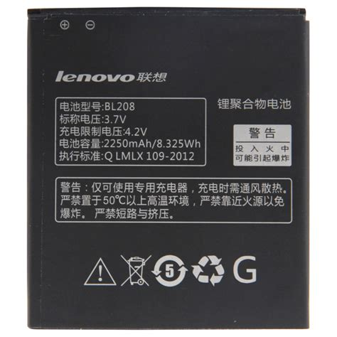 Baterai Batre Battery Lenovo Bl208 Lenovo S920 Original 2250mah bl208 rechargeable li polymer battery for lenovo s920 alex nld