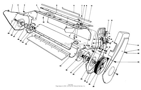 Sn Lower 1 toro 38130 s 200 snowthrower 1981 sn 1000351 1999999 parts diagram for lower frame