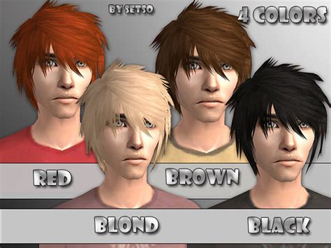 download hair male the sims 2 mod the sims myos male hair 18 recolors retextures