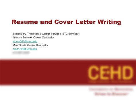 Resume 101 Powerpoint by Resume And Cover Letter Writing Ppt Eng Fju Edu Tw Con