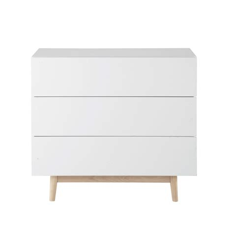 commode chambre blanche commode vintage blanche ambiance scandinave bois blanc