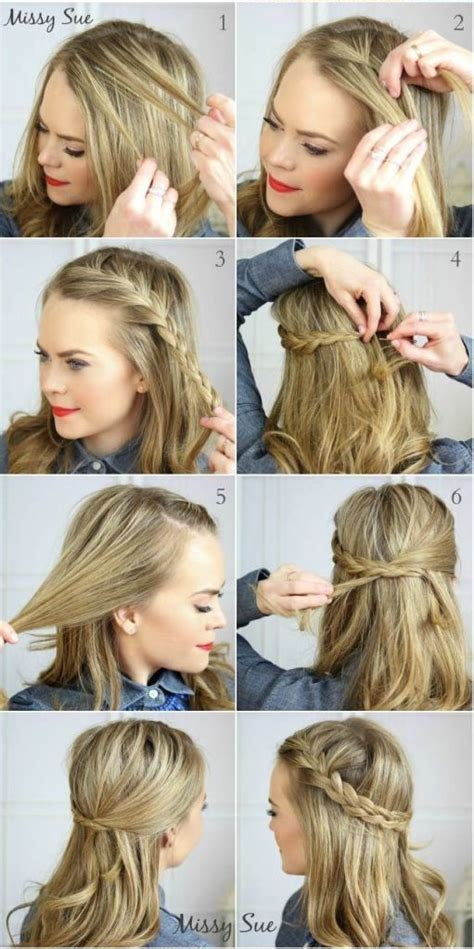 fast and easy hairstyles for shoulder length hair 25 best ideas about simple everyday hairstyles on