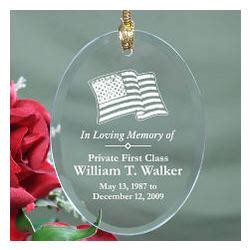 in loving memory personalized military memorial glass