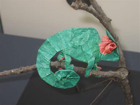 Origami Chameleon - pin origami chameleon folding with 13 step