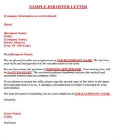 Offer Letter Guidelines 34 Offer Letter Formats Free Premium Templates