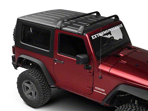 rhino jeep 2 door rhino rack jeep wrangler vortex sg 2 bar roof rack black