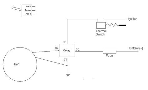 thermo switch wiring diagram thermo fan wiring australian 4wd forum