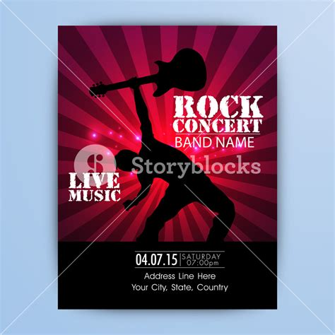concert invitation card template live rock concert template banner or flyer or invitation
