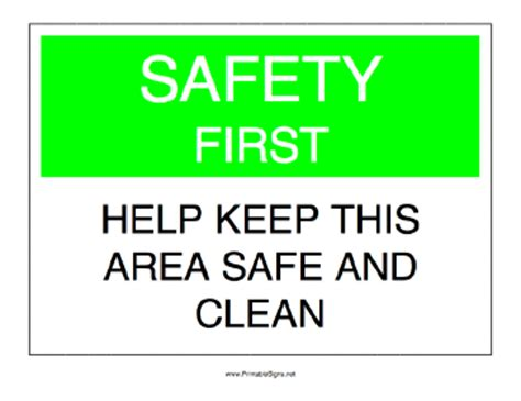 free printable keep area clean signs printable keep area safe and clean sign
