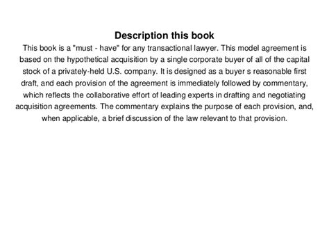 small business act section 3 download model stock purchase agreement with commentary 2