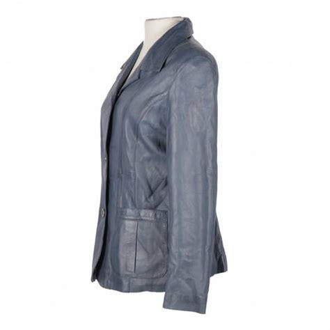 design jas dames leren jas dames blazer blauw makh