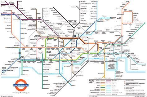 map of underground in large view of the standard underground map