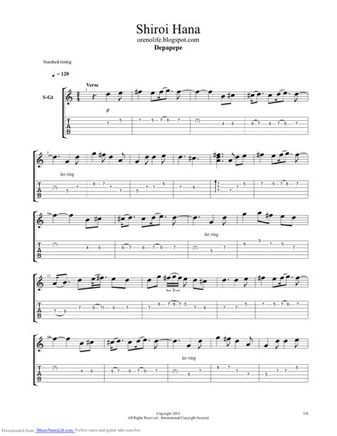 Wedding Bell Depapepe Piano by White Flower Guitar Pro Tab By Depapepe Musicnoteslib