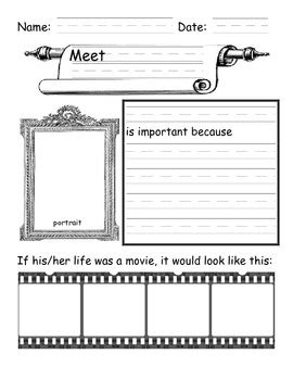 biography graphic organizer worksheets free free biography graphic organizer by mrs first grade tpt