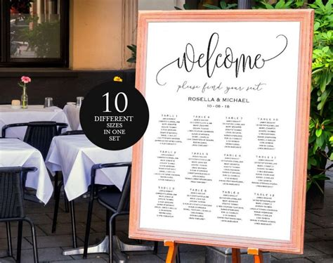 Find Your Seat Wedding Wedding Ideas Find Your Seat Template