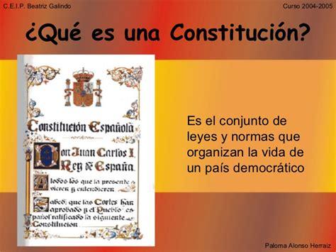 constitucin espaola la constituci 243 n espa 241 ola