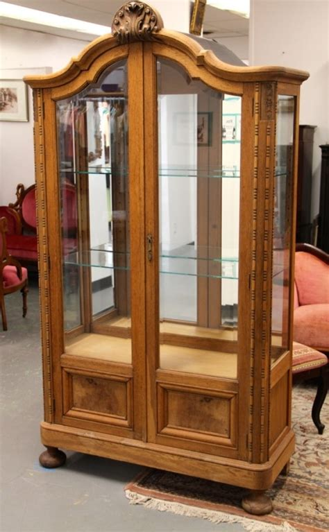 Found In Ithaca 187 Banyan Wood Curio Cabinet With Beveled