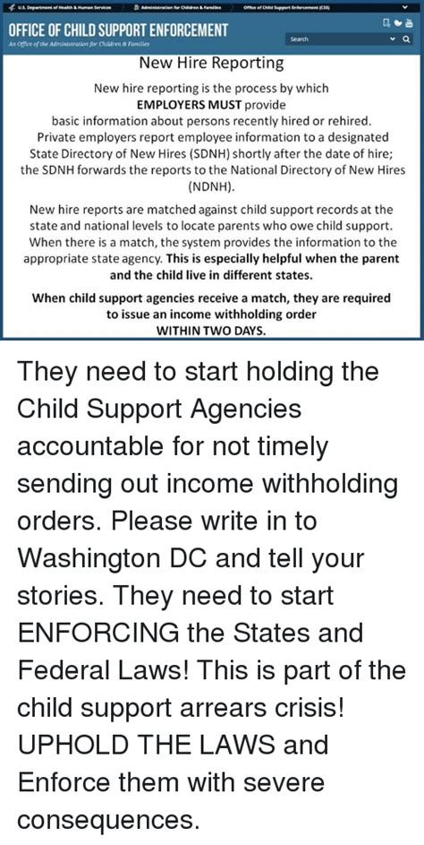 Dc Child Support Search Us Department Of Health Human Services For Children 6familles Office Of Child