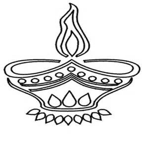 diwali diya drawing template sketch coloring page