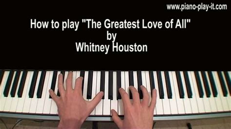 tutorial piano whitney houston the greatest love of all whitney houston piano tutorial