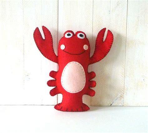 cute lobster pattern lobster stuffed animal pattern sew by hand felt lobster