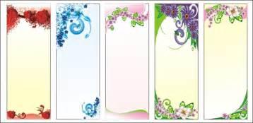 floral display background set vector vector background